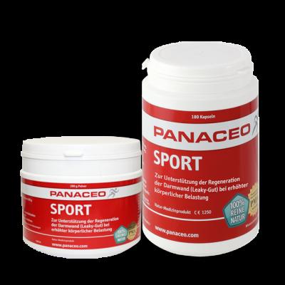 Panaceo Sport Pulver und Kapseln